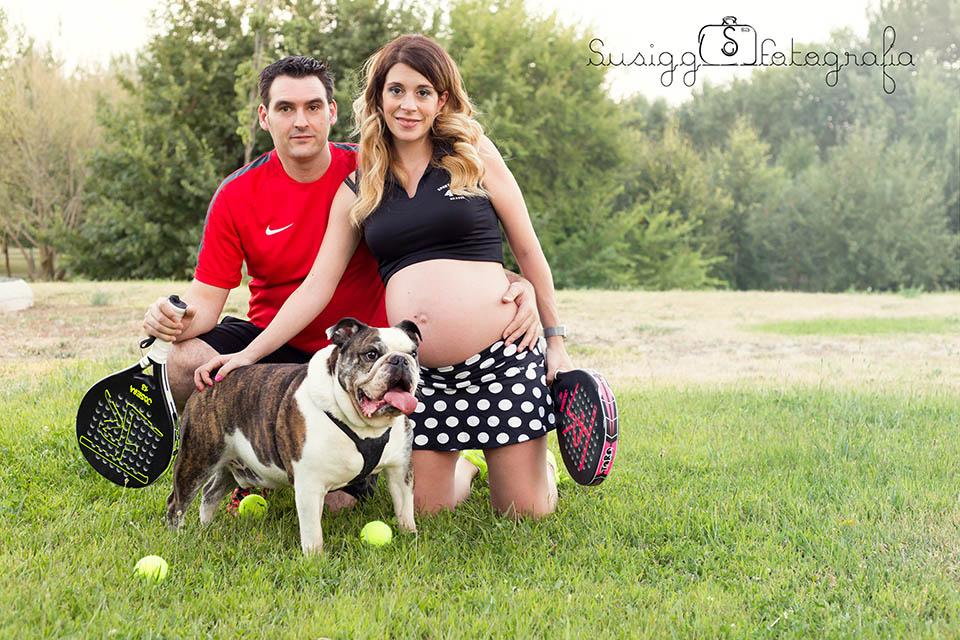 reportaje fotográfico embarazada + mascotas salamanca