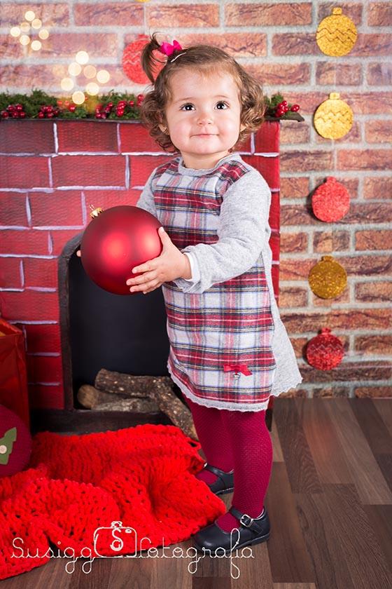 sesión fotográfica navideña infantil salamanca