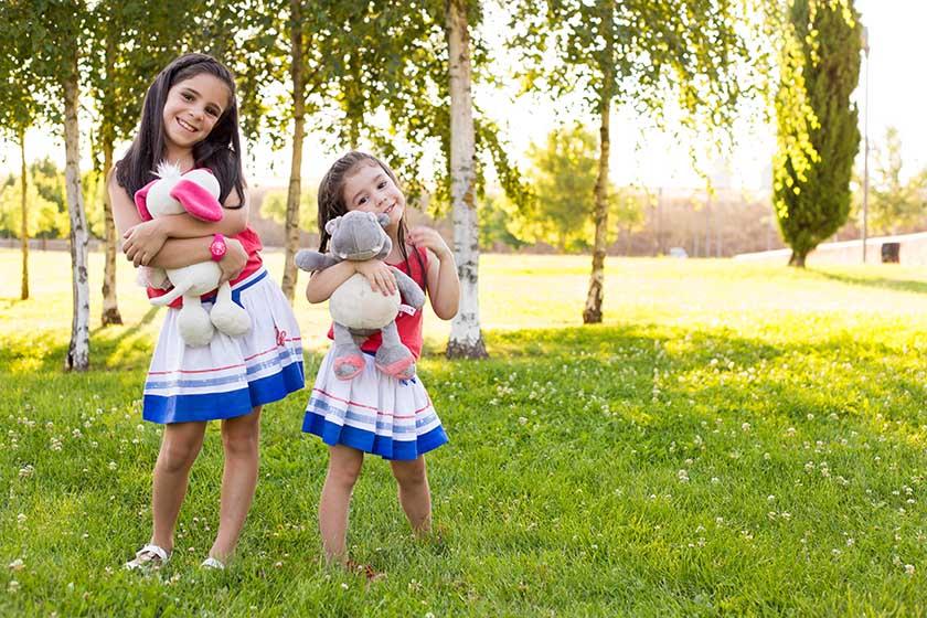 sesión de fotografía infantil exterior en salamanca