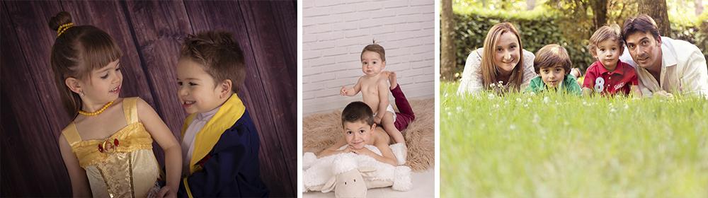 fotografía de niños y familiar en salamanca