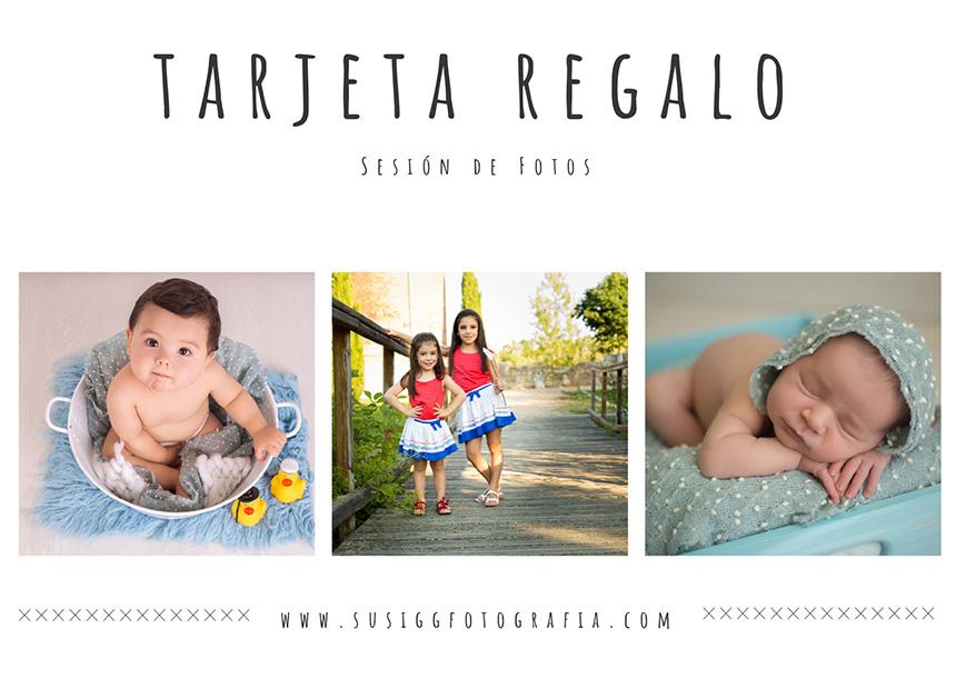 Tarjeta Regalo sesión fotográfica susigg fotografía